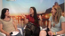Paola e Andrea, com a veterinária Juliana Senger, no programa semanal de TV O Progresso Online