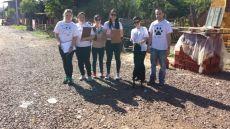 Trabalho de levantamento de cães para castração, realizado no Bairro Navegantes
