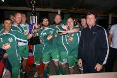Premiação do Guarani, campeão nas duas categorias