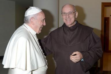 Frei Marcos, no encontro com o papa Francisco (Foto: Arquivo pessoal)