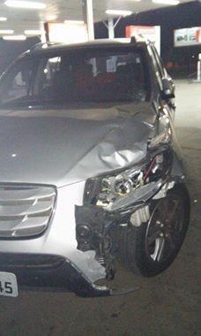 Vítima foi atingida por caminhonete na RS 240 (Foto: Franceli Stefani/Jornal Primeira Página)