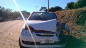 Três feridos em acidente