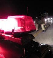 Após colisão, moto pega fogo e motoqueiro fica em estado grave