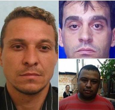 Josué Soares, Eliseu Reis e Paulo Rodrigues estão foragidos (Fotos: Polícia Civil)