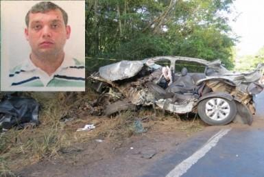 Percio Esteves, de 31 anos, morreu no local (Foto: Altamir Oliveira/Estação FM)
