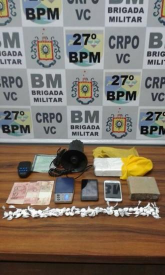 Brigada realizou prisão e apreensão (Foto: Brigada Militar)