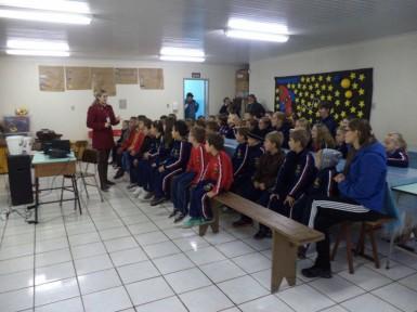 Escolas receberam palestras (Foto: Divulgação/Prefeitura)