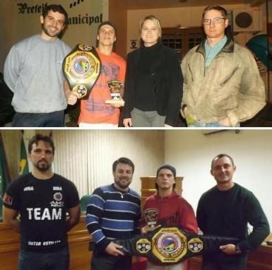 Campeão Jackson Kroetz com os patrocinadores (Fotos: Divulgação/Inter Estilus)