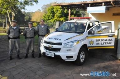 Caminhonete já poderá ser usada no policiamento (Foto: Francis Jonas Limberger/O Diário)