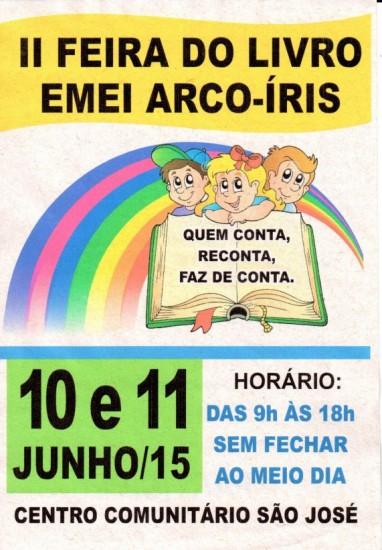 Feira do Livro da Escola Arco-Íris é atração na próxima semana