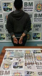 Jovem de 19 anos é presa por tráfico