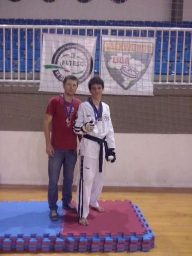 Djone e Lenon foram prata em competição em Santa Catarina (Foto: Divulgação/Unidos Jin Seon)