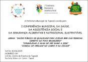 Município promove conferência no dia 30 de junho
