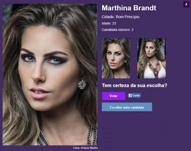 Região pode ajudar Marthina Brandt a ser a Miss RS