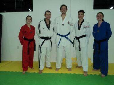 Atletas Marcela, Djone, Douglas, Lenon e Taís competem em São Paulo (Foto: Divulgação/Unidos Jin Seon)