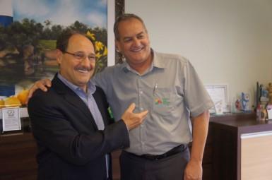 Sartori agradeceu o apoio de Darci (Foto: Aline Assmann/Prefeitura)