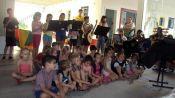 Alunos tiveram integra��o pelo canto (Foto: Divulga��o/Prefeitura)