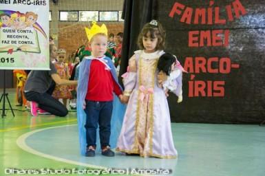Giuliano Luan Schaker e Samantha Lara Patzlaff, príncipe e princesa Arco-Íris 2015 (Foto: Divulgação/Prefeitura)Olhares Stúdio Fotográfico)